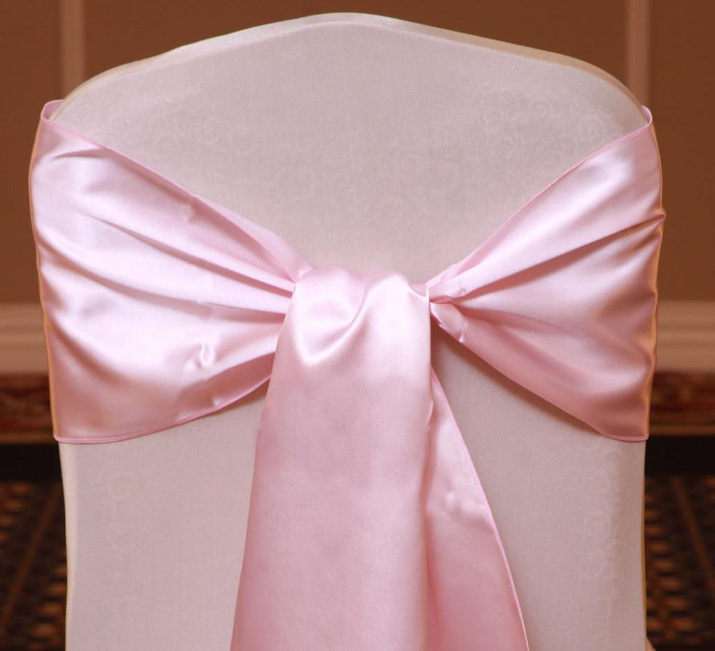 Light-Pink Satin Sashes - Rentable Item