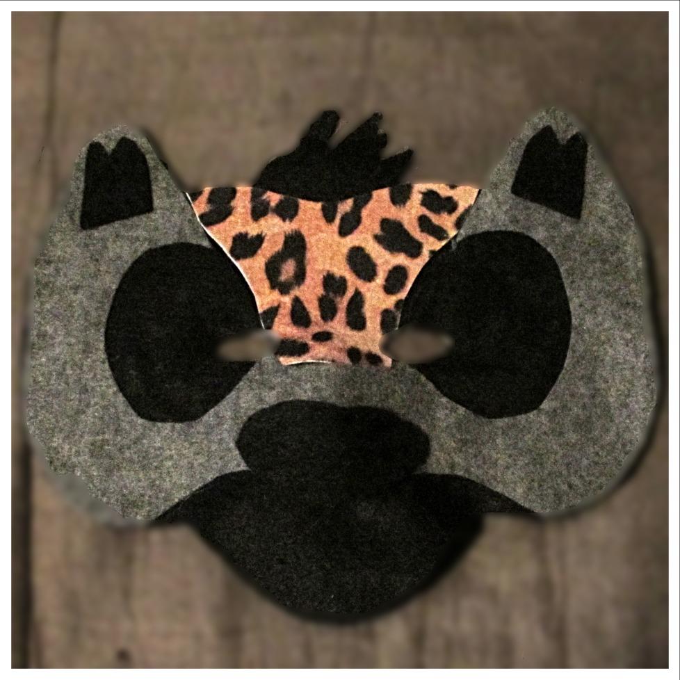 Felt Hyena Mask