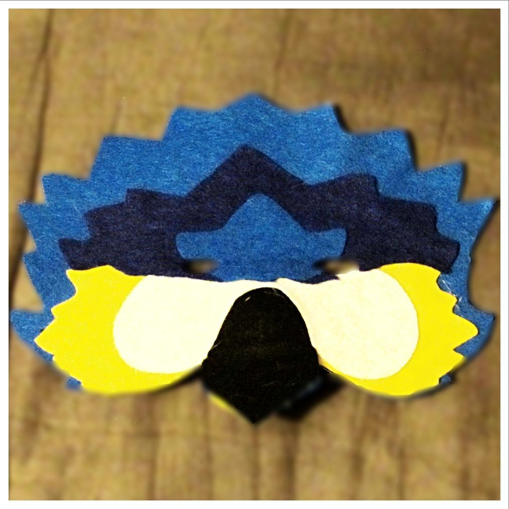 Felt Macaw Mask