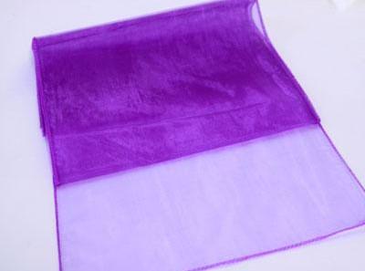 Purple Organza Table Runner - Rentable Item