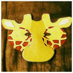 Felt Giraffe Mask