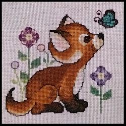 Cross Stitch Fox