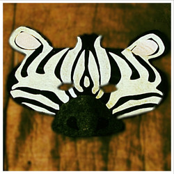 Felt Zebra Mask