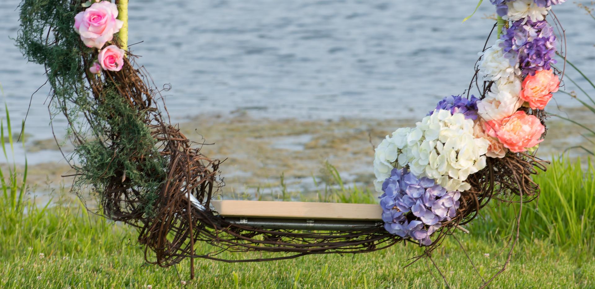 Floral-Grapevine Swing - Rentable Item