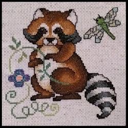 Cross Stitch Raccoon