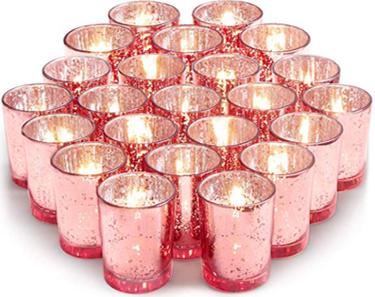 2.67'' Rose Gold Votive Tealight Candle Holder - Rentable Item