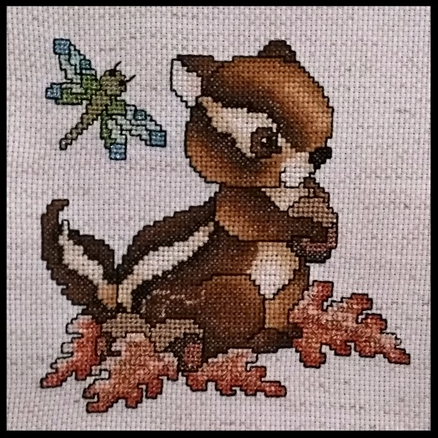 Cross Stitch Chipmunk