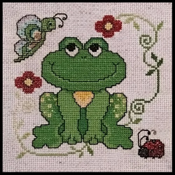 Cross Stitch Frog