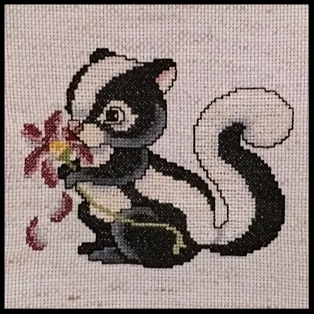 Cross Stitch Skunk