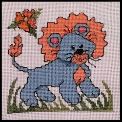 Cross Stitch Lion