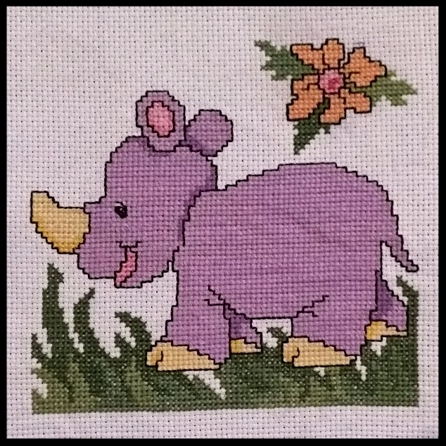 Cross Stitch Rhino