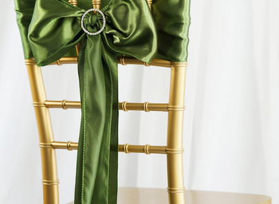 Moss Green Silk Sashes - Rentable Item