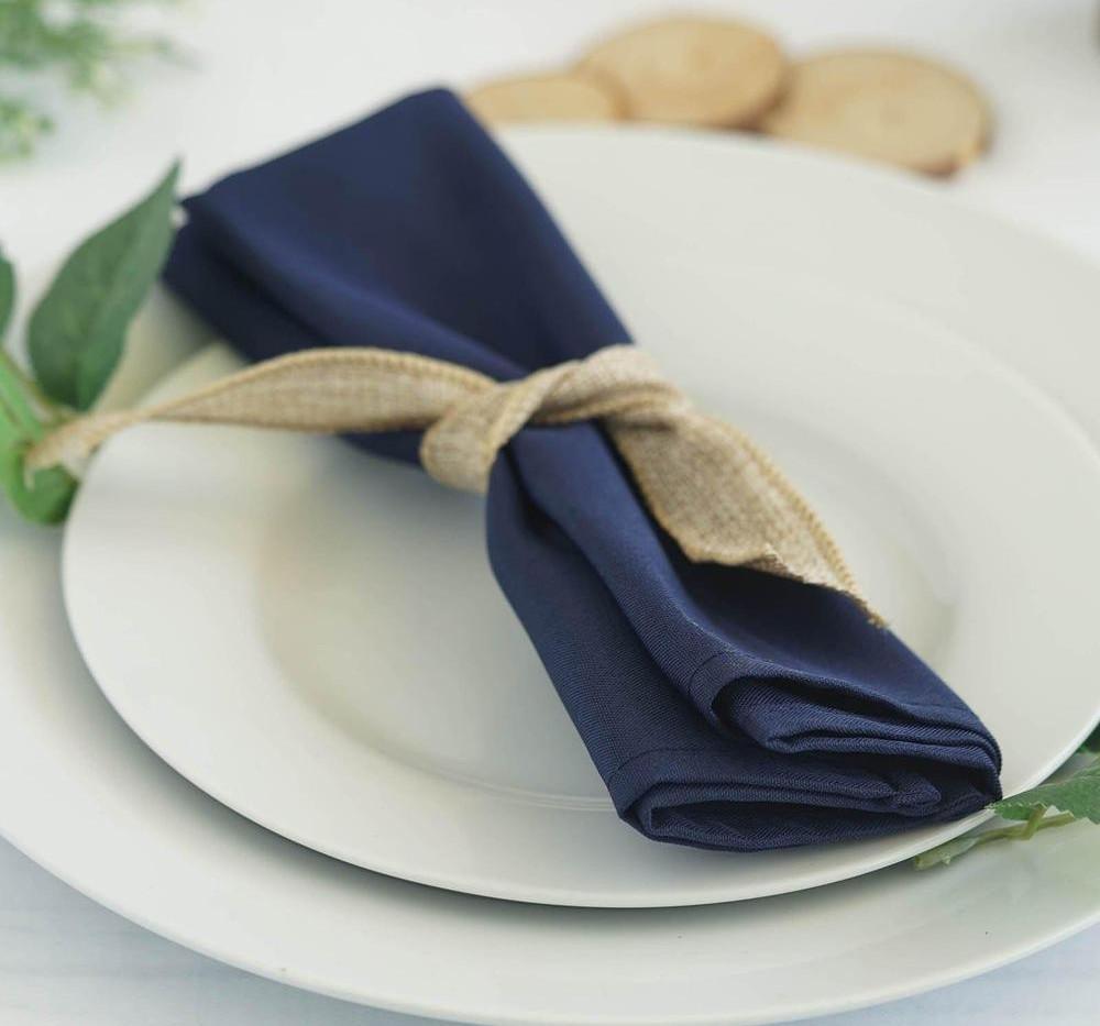 20'' Navy Blue Napkins - Rentable Item