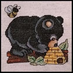 Cross Stitch Bear