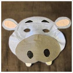 Felt Hippo Mask