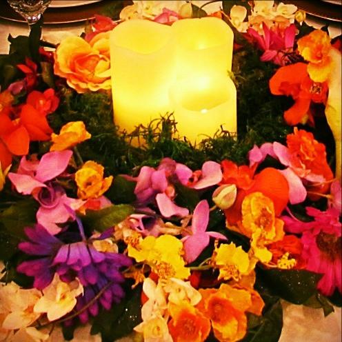 Silk Flower Wreath Centerpieces - Rentable Item