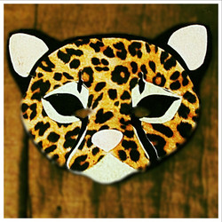Felt Cheetah/Leopard Mask