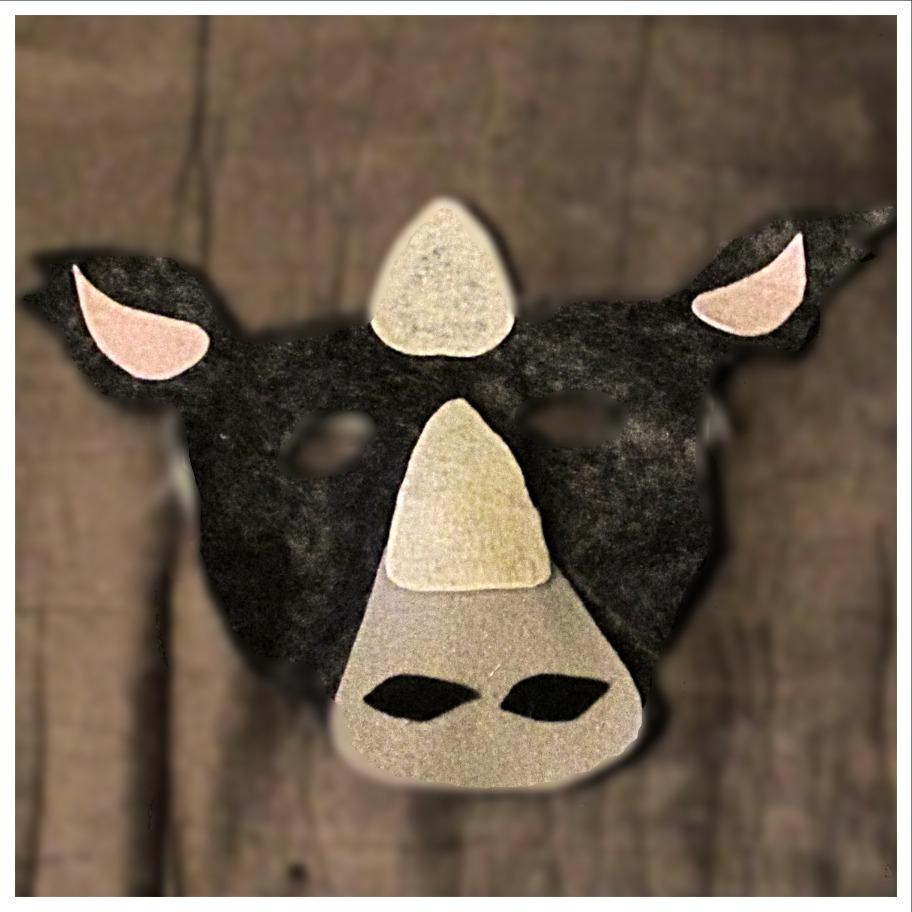 Felt Rhino Mask
