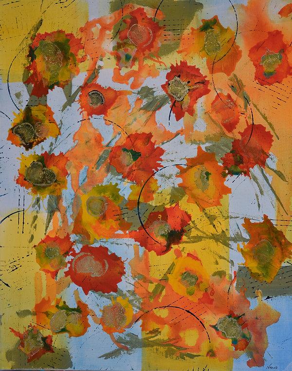 Garden Gate acrylic & ink on canvas 16x2