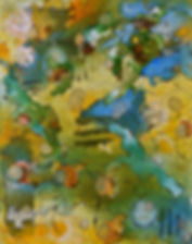 Islands of Light acrylic & ink on canvas