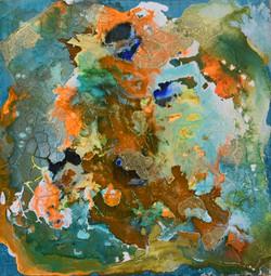 Scuba View acrylic on panel 6x6 Alice No