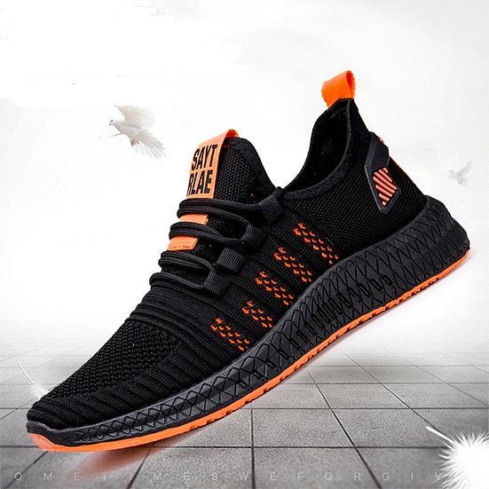 Mens Urban Fashion Trainers (Orange and Black)