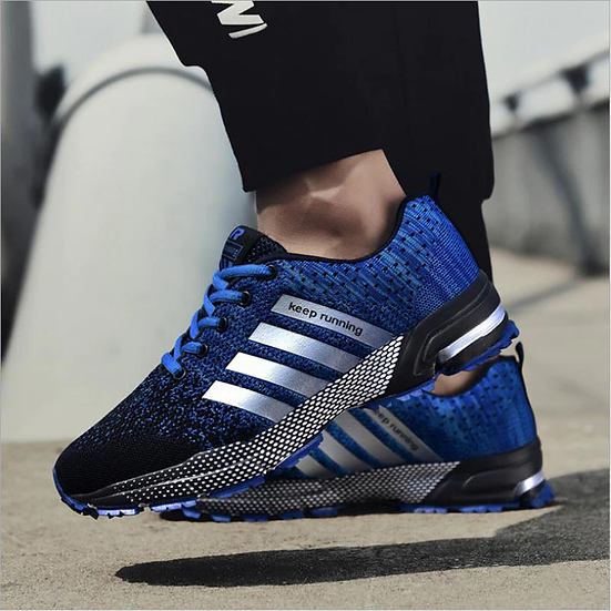 Men's Running Shoes Plus Size 47 Breathable Man Sports Sneakers Lace Up Comfort