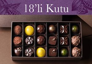 18'li karışık el yapımı belçika çikolatası