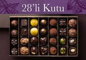 28'li karışık el yapımı belçika çikolatası