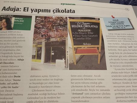 """ADUJA ARTISANAL """"AYRANCIM"""" GAZETESİNDE! ARALIK 2020"""