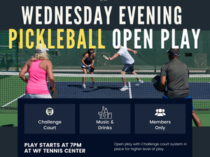WED SEPT 8 | TODAY AT WILDFLOWER TENNIS CENTER
