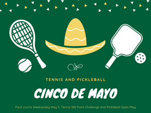 WEDNESDAY May 5 TODAY AT WILDFLOWER TENNIS CENTER