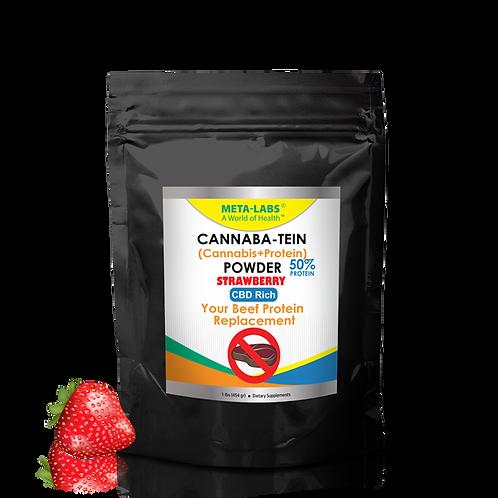 Cannaba-Tein PROTEIN POWDER Srawberry 1 lb