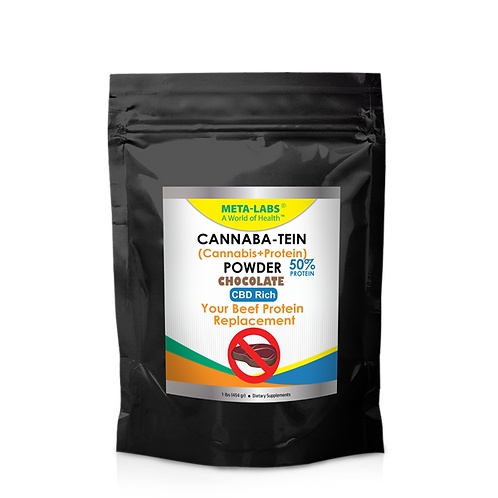 Cannaba-Tein PROTEIN POWDER Chocolate 1 lb