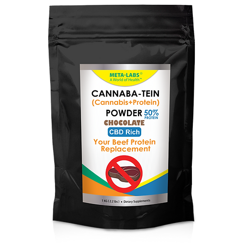 Cannaba-Tein PROTEIN POWDER Chocolate 2.2 lbs