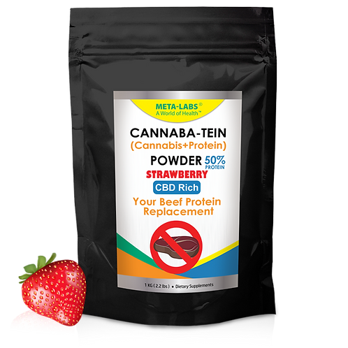 Cannaba-Tein PROTEIN POWDER Strawberry 2.2 lbs