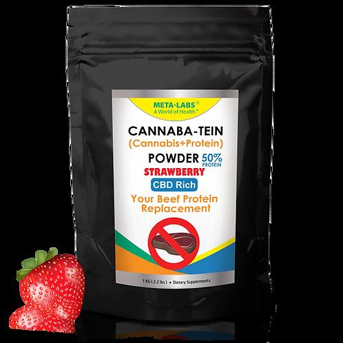 Cannaba-Tein PROTEIN POWDER Strawberry 2.2 lbs