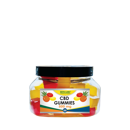 CBD GUMMIES 60/BOTTLE LEMON, ORANGE, BLUEBERRY AND PINA COLADA