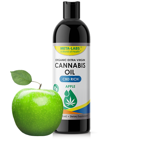 CANNABIS OIL, 8 fl. OZ., CBD RICH, APPLE FLAVOR