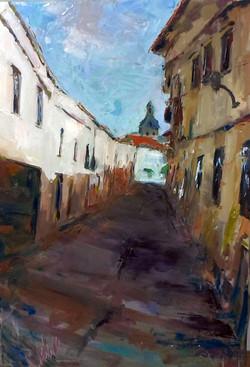 """Pintura rápida, """"Calle Cristo, Migue"""