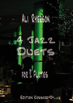 4 Jazz Duets for 2 Flutes (shipping outside the US is extra)