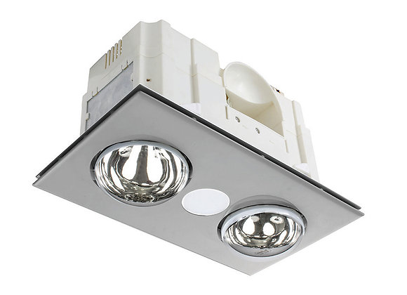 Horizon 3 in 1 Bathroom Heater With 8W LED Silver / CCT - 19847/11