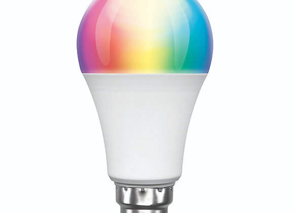 Brilliant Smart WiFi LED RGB Smart Light Bulb B22, 800 Lumens , 9W , Dimmable