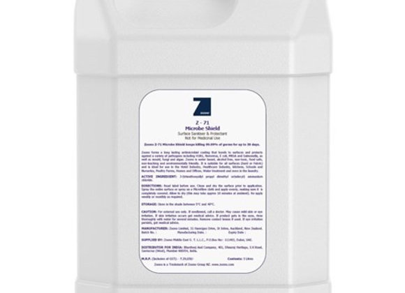 Zoono Surface Sanitiser Z71 refill Bottle 5L