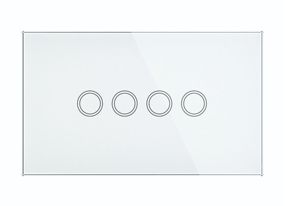 Brilliant Smart Non-Smart ELITE GLASS WALL SWITCH 4 GANG