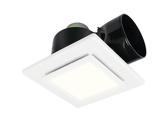 Brilliant Sarico Square Small Exhaust Fan With 9W LED Light White