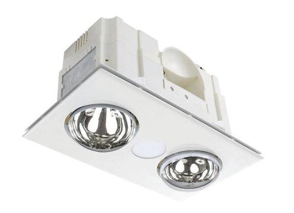 Horizon 3 in 1 Bathroom Heater With 8W LED White / CCT - 19847/05