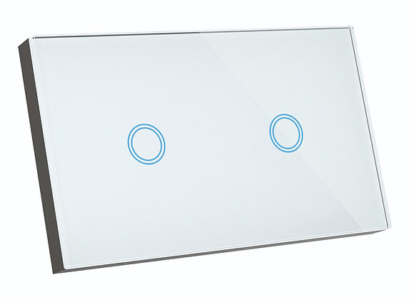Brilliant Smart SMART WiFi ELITE GLASS WALL SWITCH 2 GANG