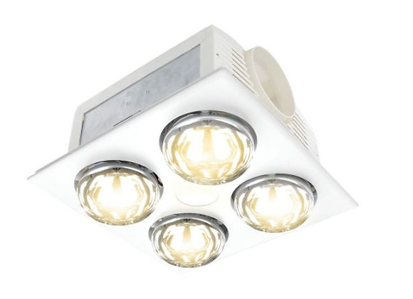 Brilliant Horizon 3 in 1 Bathroom Heater With 8W LED White / CCT