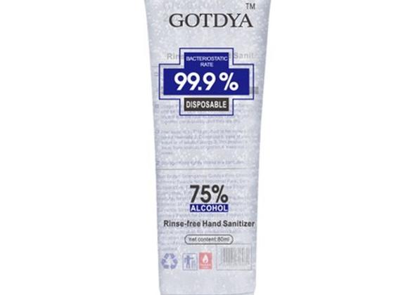 GOTDYA 80ml Wash Free Hand Alcohol Spray Gel Hand Sanitizer with 75% Alcohol Han